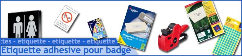 Étiquette adhésive pour badge