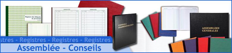 Registre d'Assemblées et  Conseils
