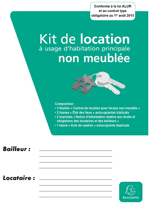 Location non meubl e dossier exacompta 41e ask distribution for Location non meuble